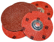 "Merit 65164 Power-Lock 3"" 60-Grit Sanding Disc"
