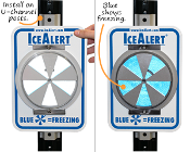 Ice Alert Sign, Temperature Sensitive Reflective