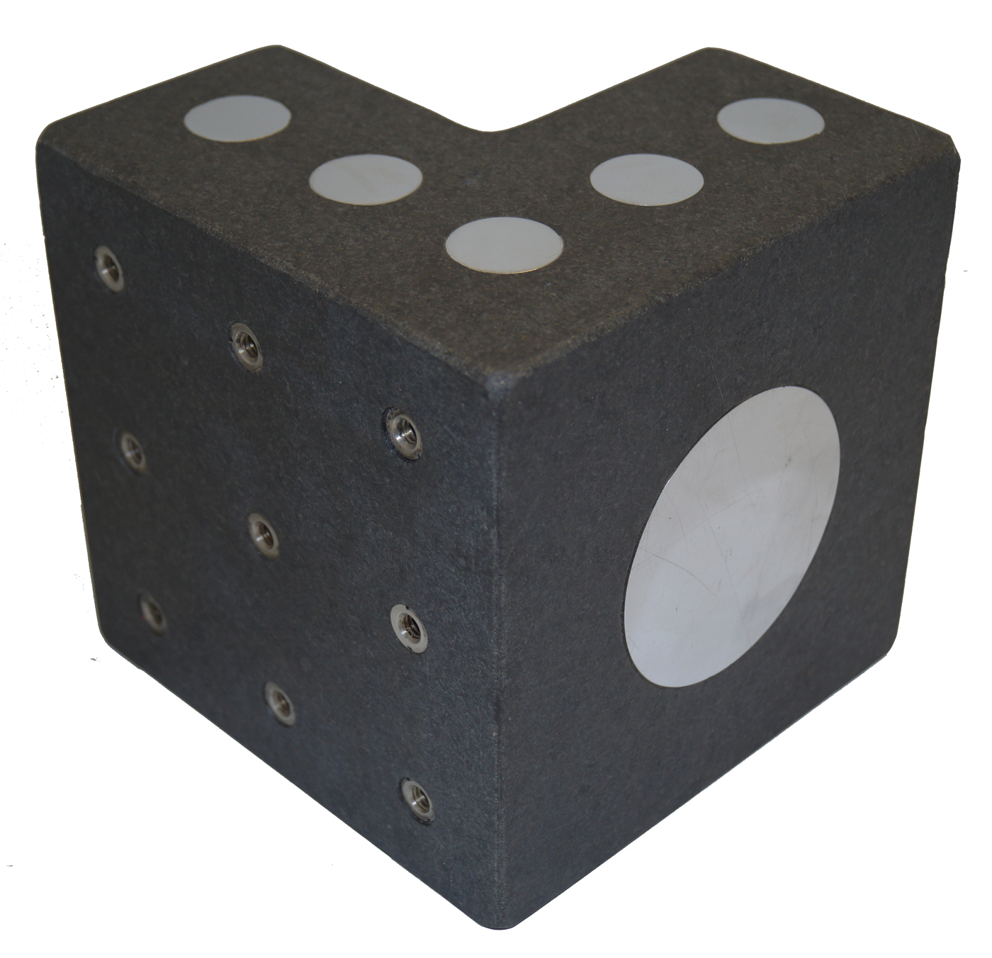"Granite Surface Plate Angle Block, 6"" Cube, DoALL .000050"" Accuracy"