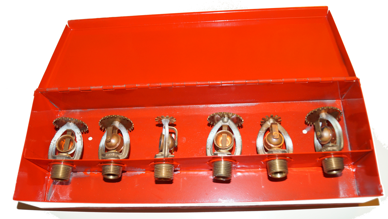 Fire Sprinkler Heads with Storage Box (6) Total