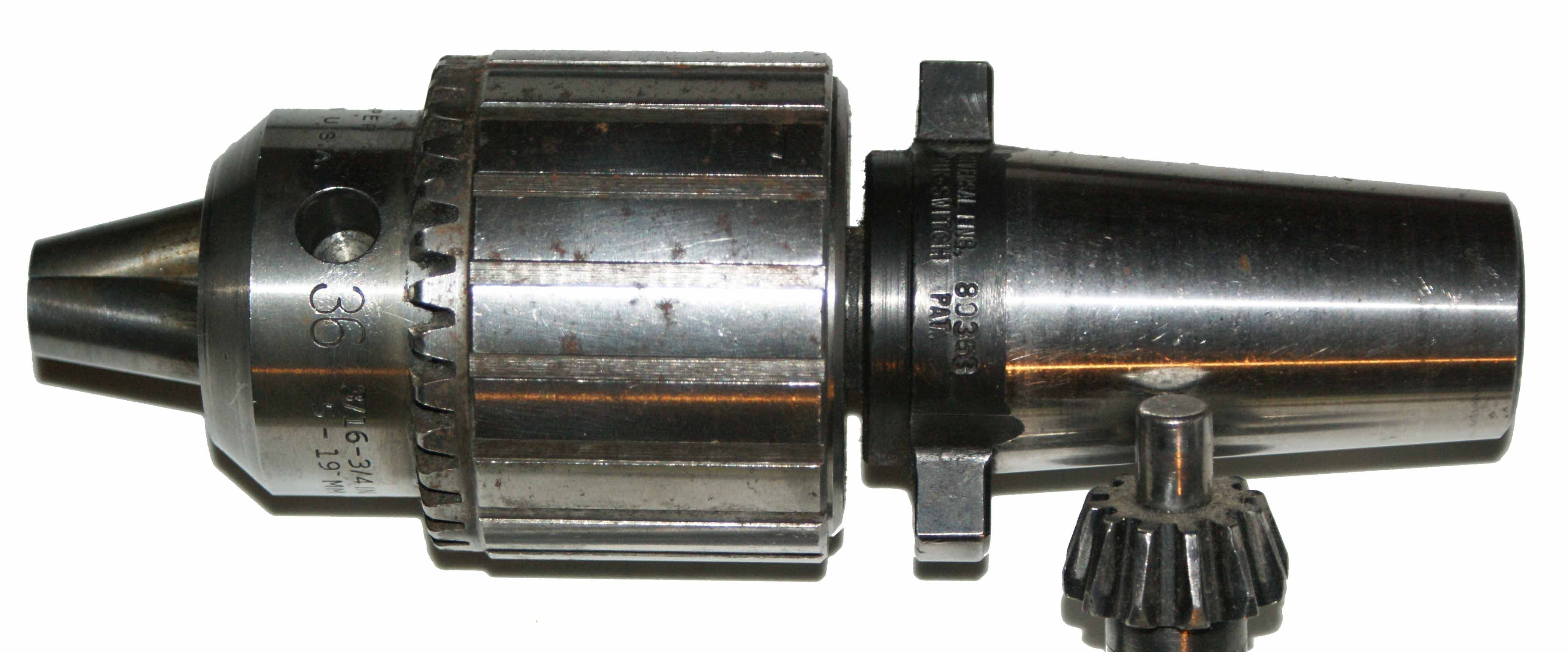 Kwik-Switch 300 80353 w- Jacobs 36 Drill Chuck, Key