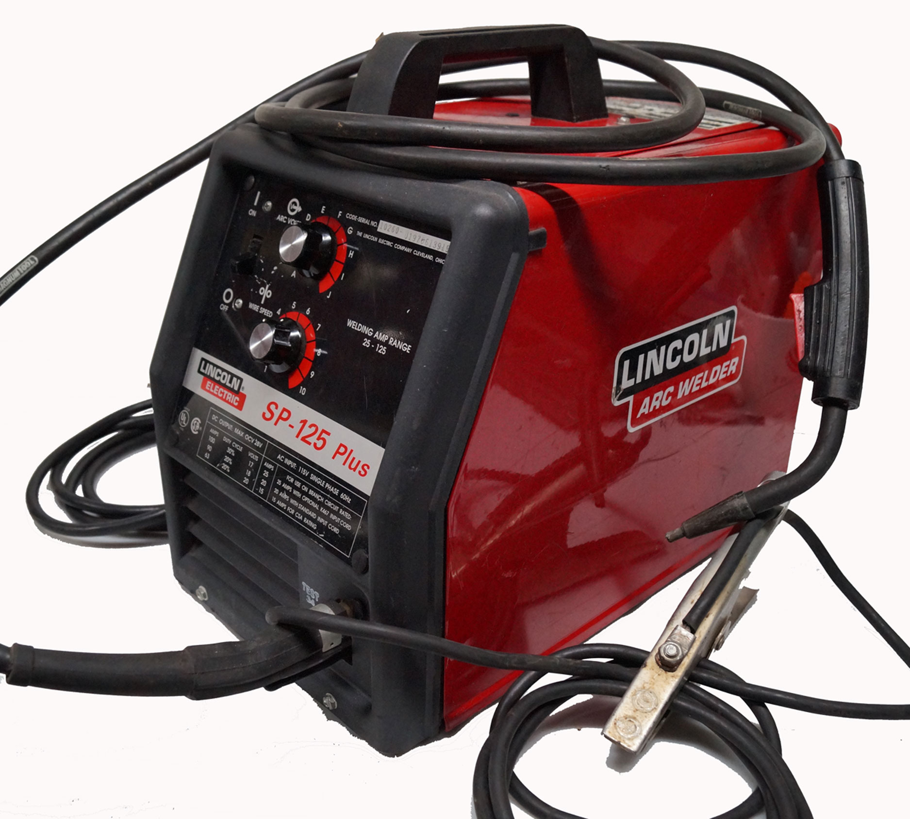 Audi Dealership Near Me >> Lincoln Electric Sp 125.Lincoln Electric 125 Amp Weld Pak 125 HD Flux Cored Welder . Metal ...