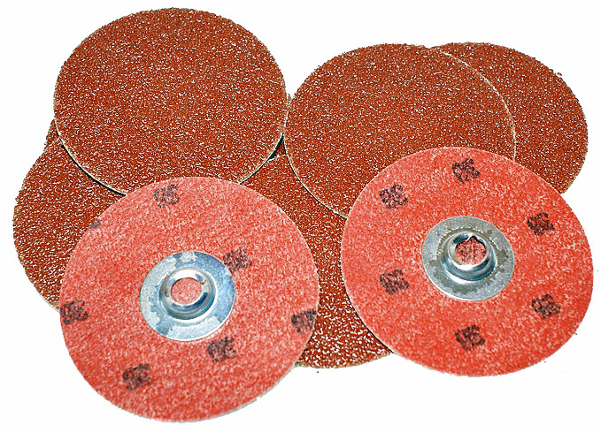 "Merit 65161 Power-Lock 3"" 36-Grit Sanding Disc"