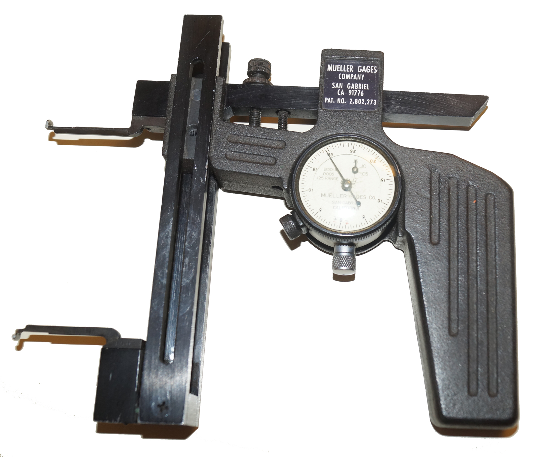 "Groove Gage, Mueller Dial Indicator, .0005"" Resolution"