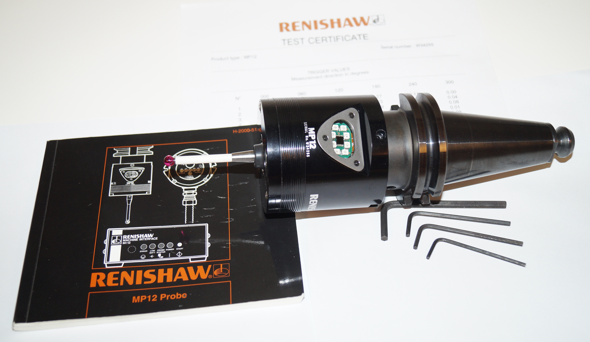 Renishaw MP12 Probe with Cat40 Adapter