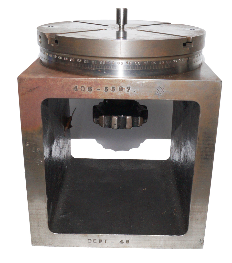 "Rotary Table on 6"" Machinist Cube 1923 Vintage"