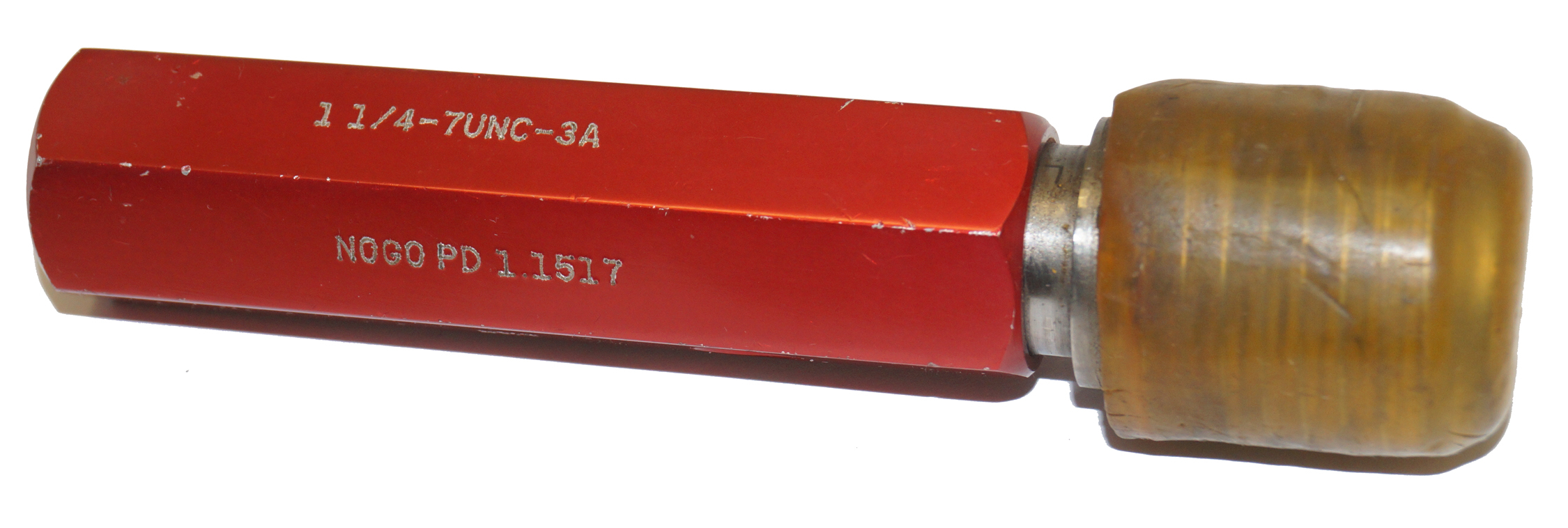 "1-1/4""-7UNC-3A Set Plug Thread Gage NoGo 1.1517"
