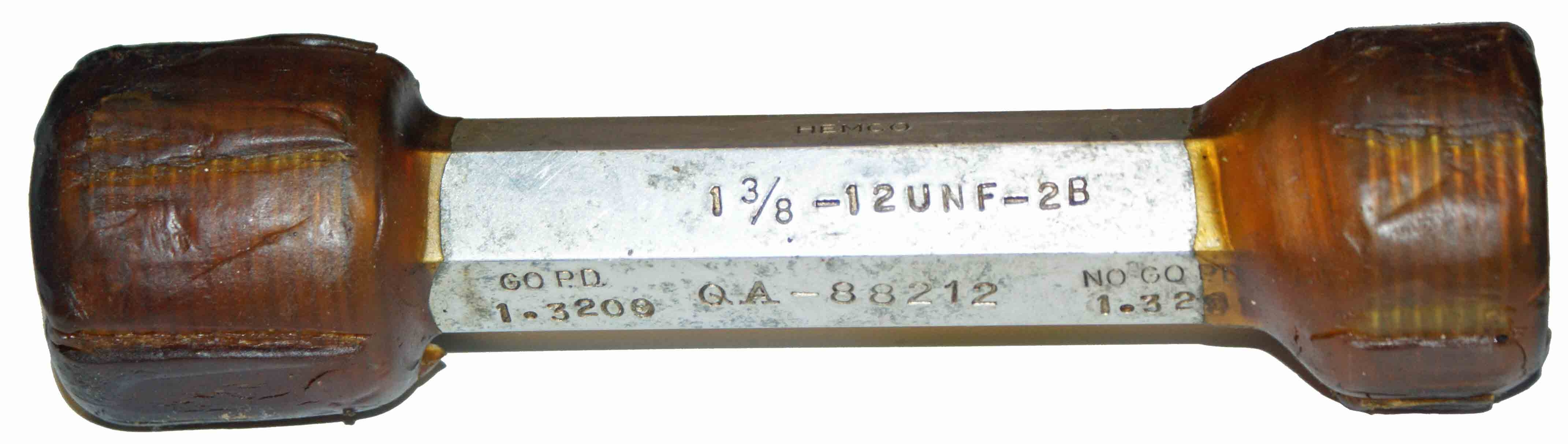 "Thredco 1-3/8"" - 12UNF-2B Plug Style Thread Gage"