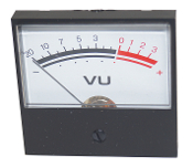 VU Meter - Panel Part: 244-0133, Range: -20 to +3
