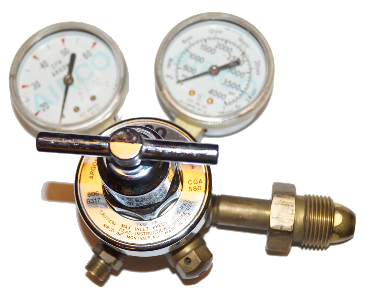 Argon Regulator, Airco 806-8317 CGA-580