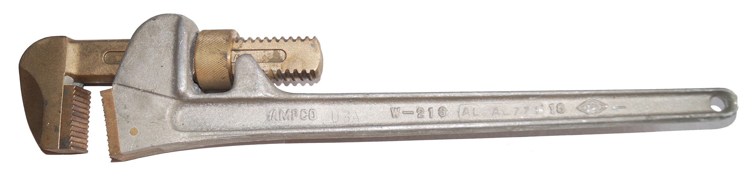 Ampco W-213 Pipe Wrench Aluminum 18 Inch