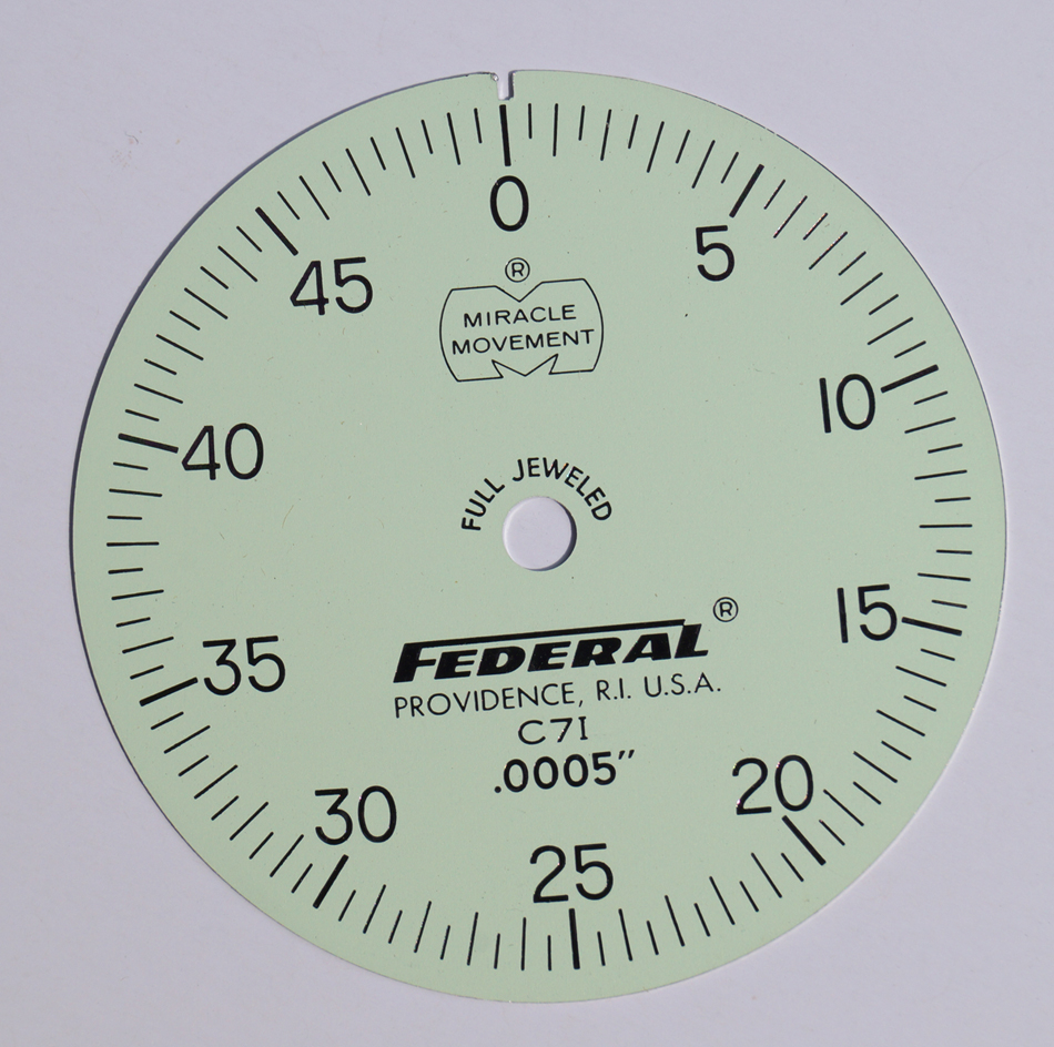 Federal Dial Indicator Face Plate C71 .0005""