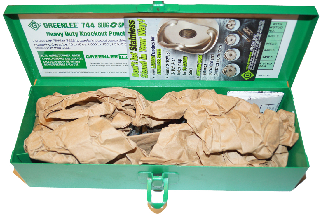 Greenlee 744 Slug Splitter Heavy Duty Knock-Out Kit