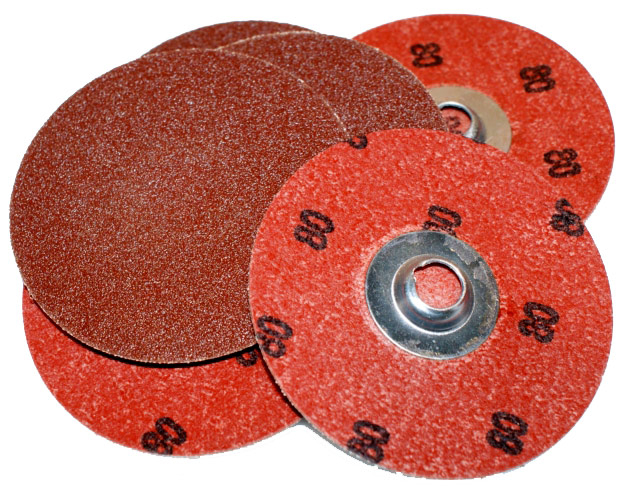 "Merit 65165 Power-Lock 3"" 80-Grit Sanding Disc"
