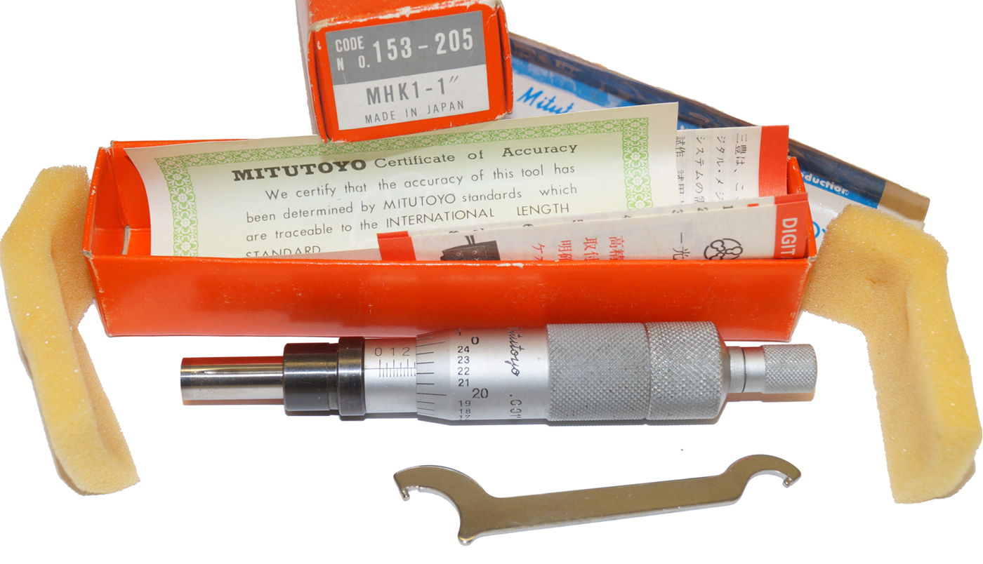 Mitutoyo Micrometer Head 153-205, Non-Rotating Spindle