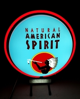 Natural American Spirit Neon Sign