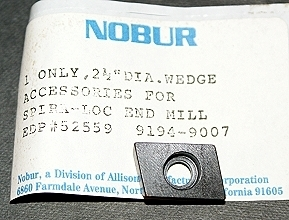 "Nobur Spira-Loc 2-1/2"" Wedge"