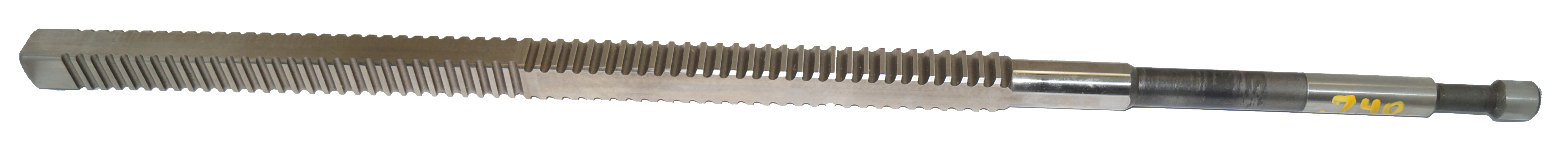 Square Keyway Broach Cutter, .740 Square, .625 Shank, 24""