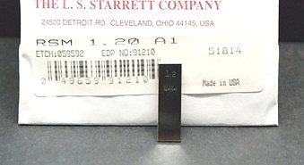 Starrett RSM 1.2 MM A1 Gage Block