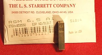 Starrett RSM 6.5 MM A1 Gage Block