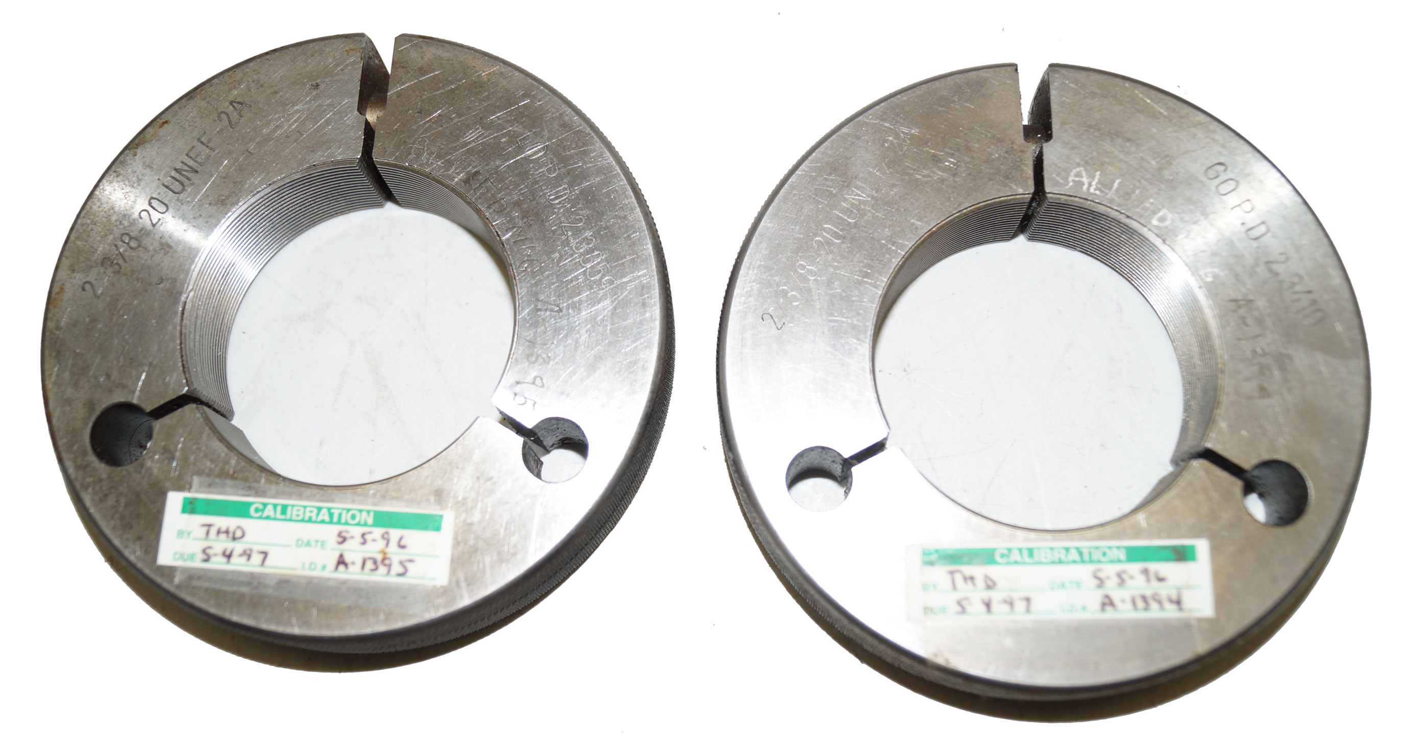 2-3/8-20 UNEF-2A Thread Ring Gage Go-NoGo Set