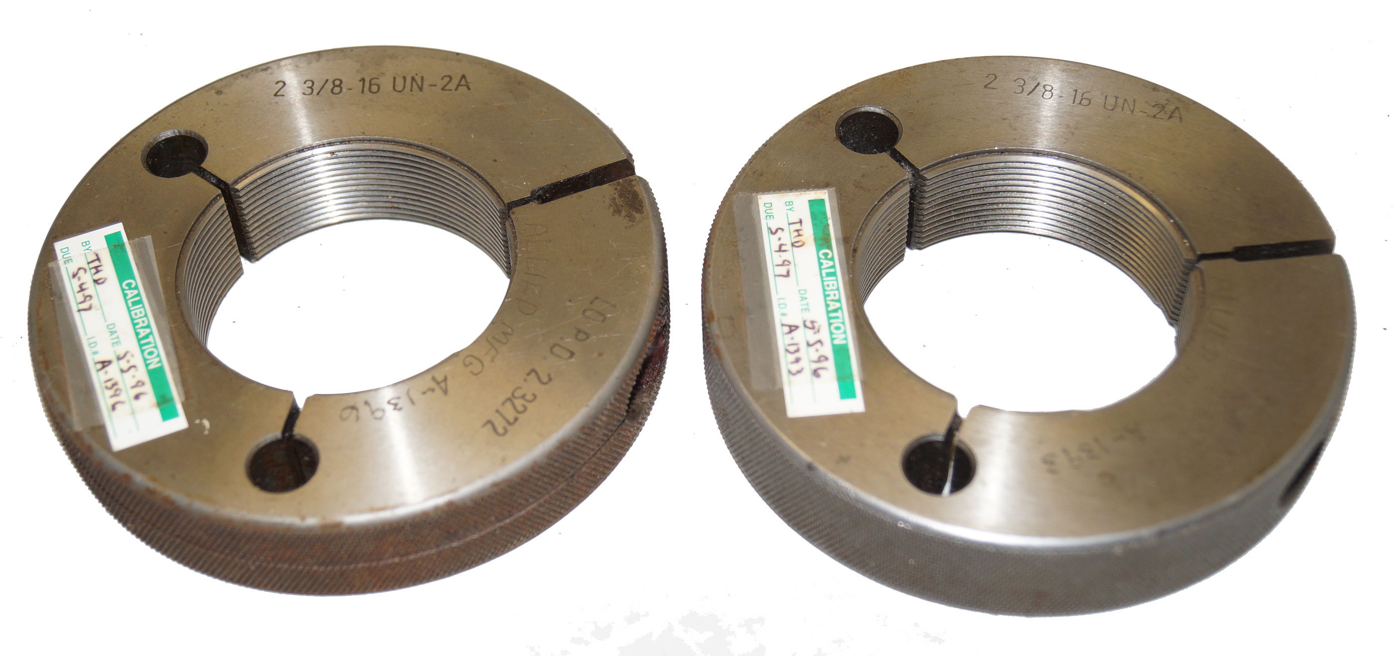 2-3/8 - 16 UN-2A Thread Gage Ring Go/NoGo