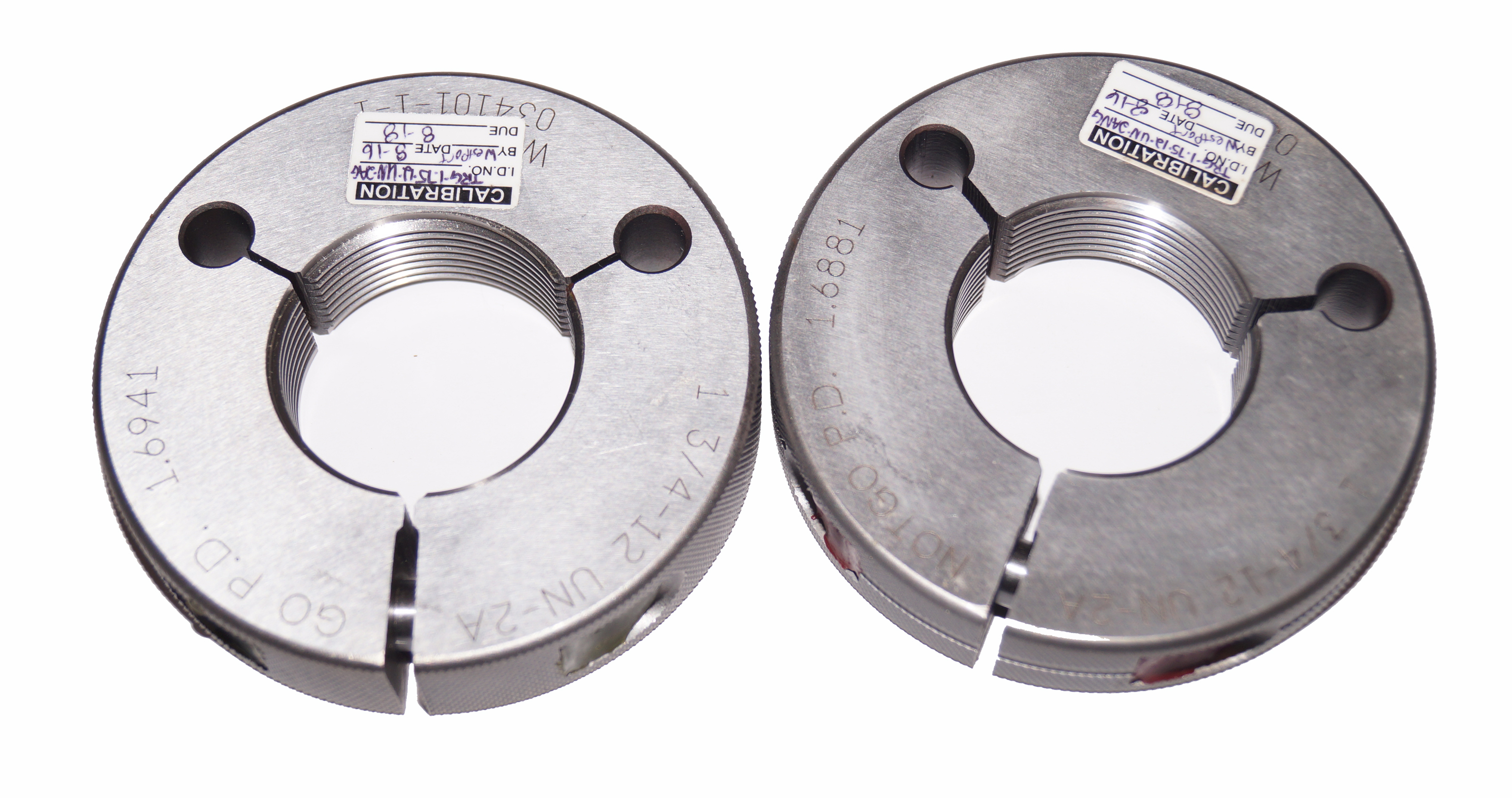 1 3/4 12 UN 2A Thread Ring Gages GO PD: 1.6941 NoGo PD: 1.6881