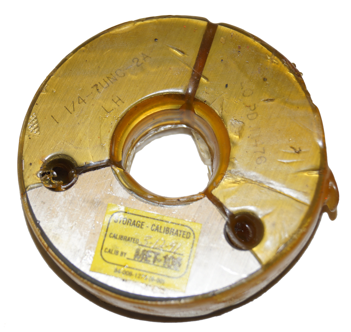 "Thredco 1-1/4"" - 7UNC-2A LH Thread Ring Gage"