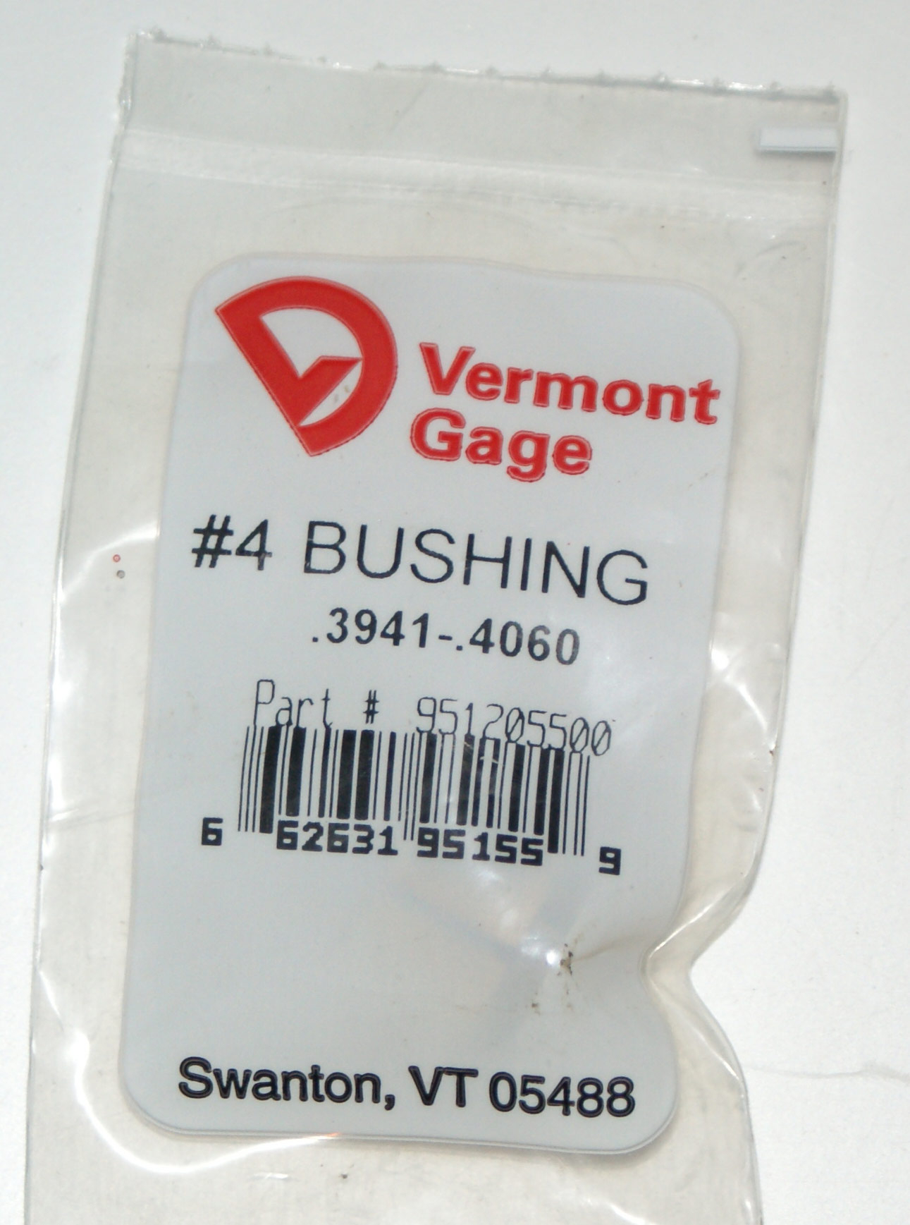 "Vermont Gage .3941 - .4060"" #4 Bushing / Collet Pin"