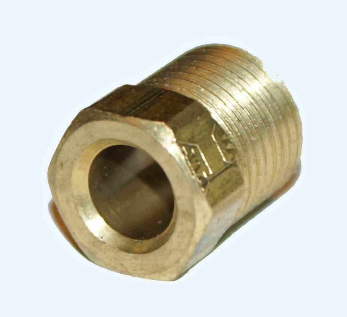 "1/4"" OD Tube Nut 100X4 Weatherhead - Brass"