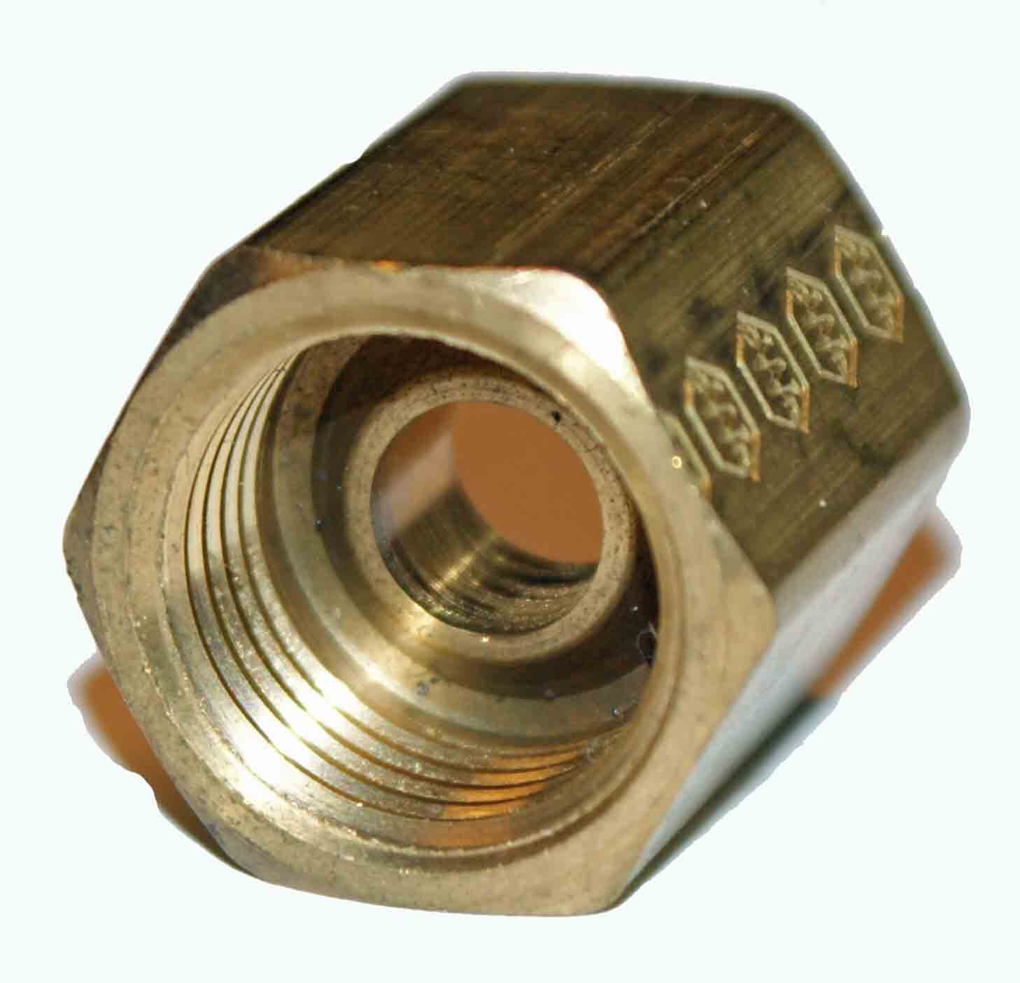 "Weatherhead 3/8"" OD Female Inverted Union - Brass"