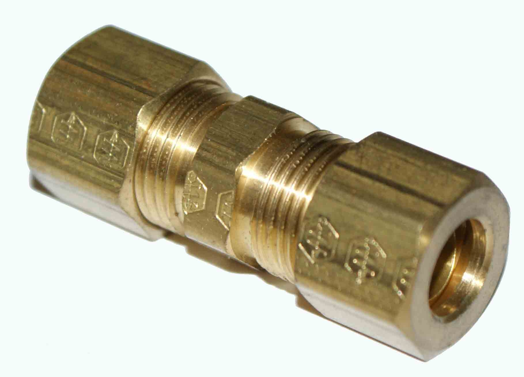 "Weatherhead 5/16"" OD Brass Union - Compression 62X5"