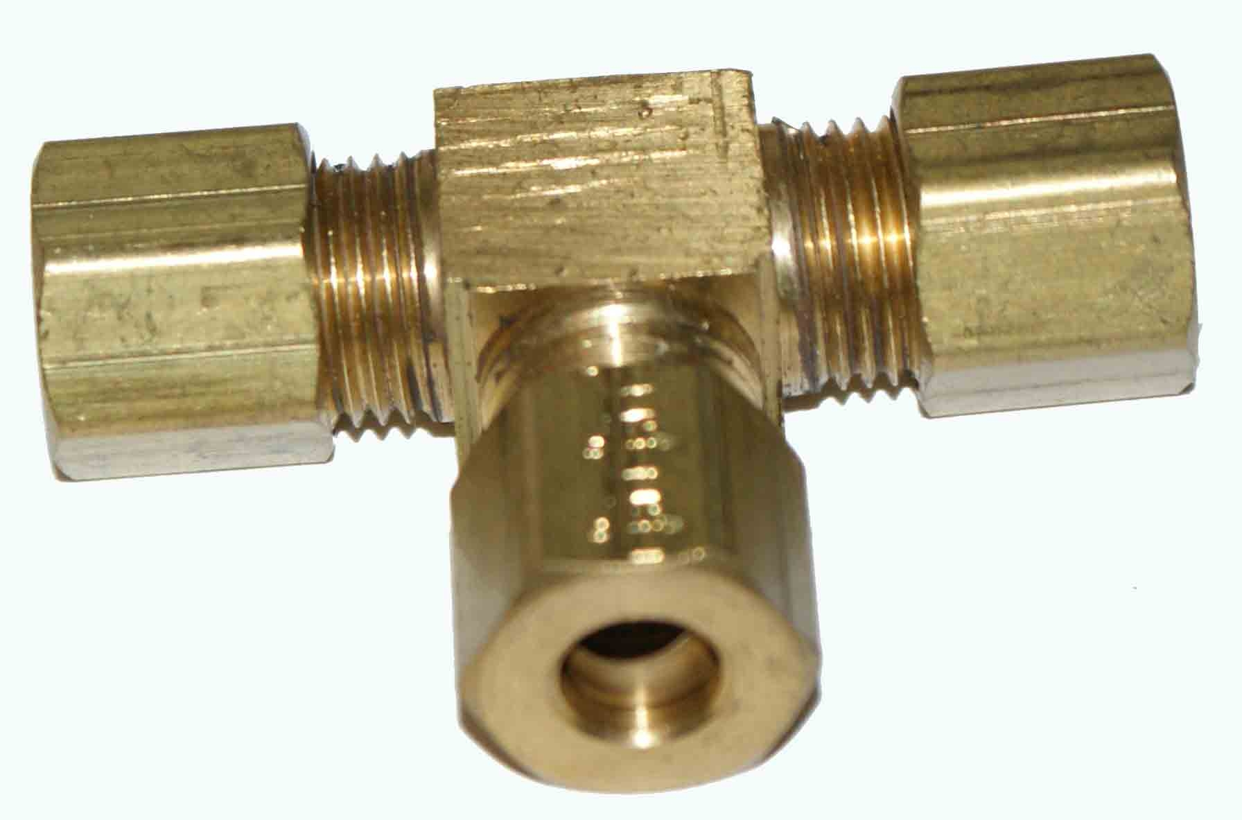 "Weatherhead 64X3 3/16"" Tube OD Brass Union - Compression"